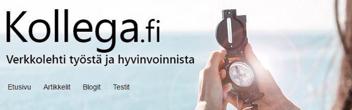 Kevennä stressiä Kollega.fi -verkkolehdessä