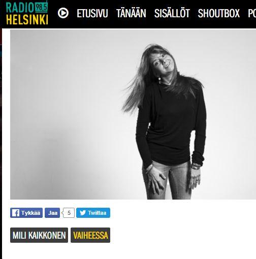 Radio Helsingin haastattelu 2014